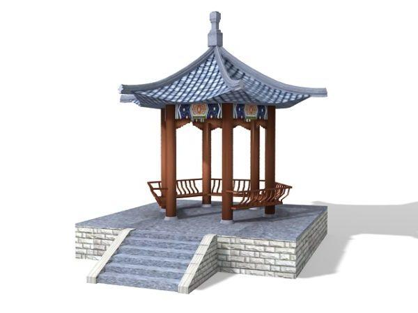 Chinese Garden Pavilion Hexagonal