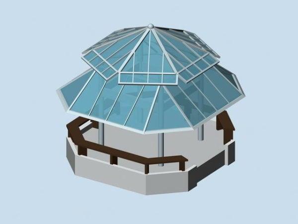 Glass Roof Gazebo