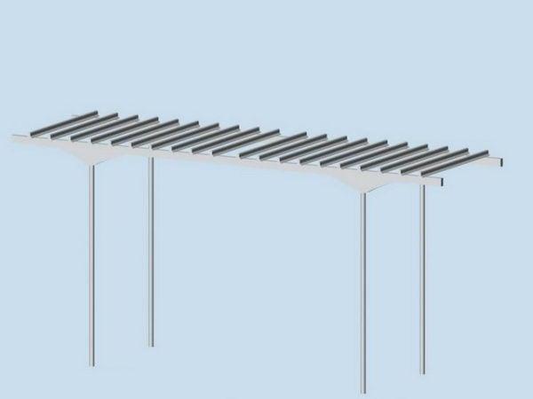 Modern Metal Pergola