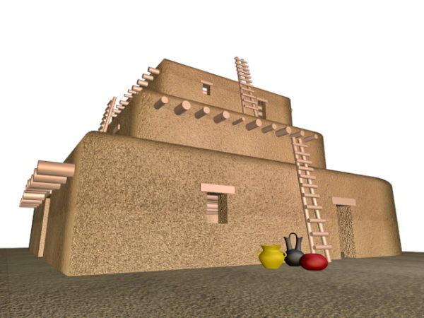 Pueblo Indian Building House