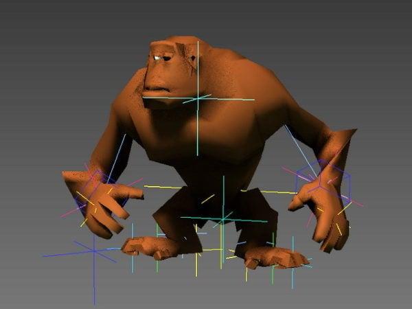 Animated Orangutan Rig