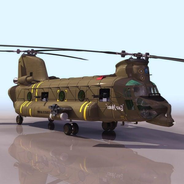 Helicóptero de elevación pesada Chinook Ch-47