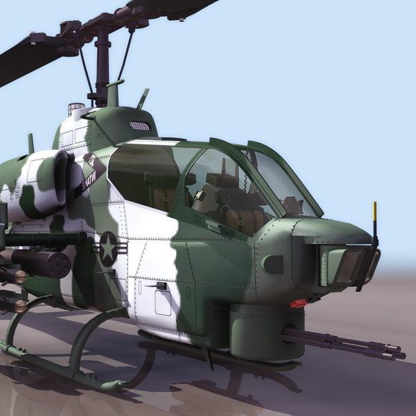 Helicóptero de ataque Supercobras Marine Ah-1w de EE. UU.