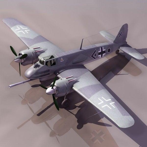 Avión de ataque terrestre alemán Hs129