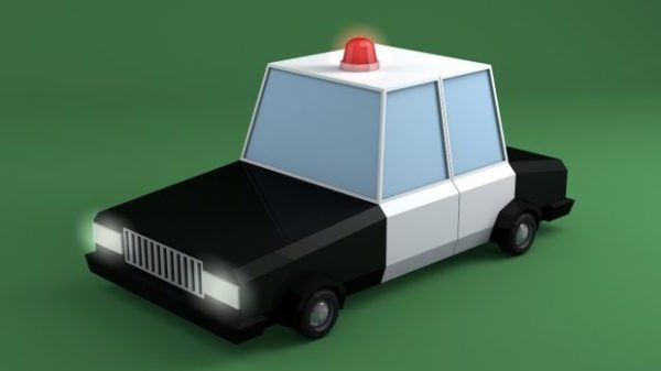 Cartoon Cop Car Free 3d Model Obj Open3dmodel
