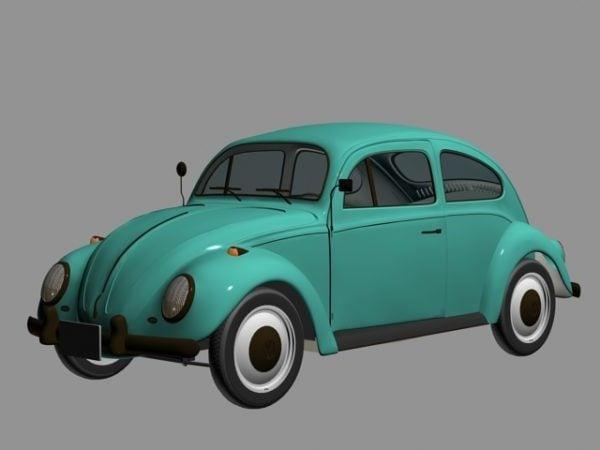 Vintage Vw Volkswagen Beetle Coche