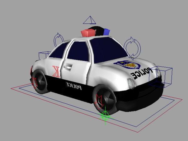 Police Cartoon Car
