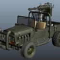 Gun Truck Fighting Combat Vehicle
