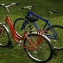 Altes hybrides Fahrrad