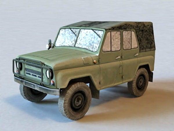 Russian Military Uaz Car
