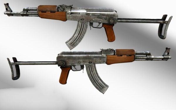Akm Assault Rifle Weapon