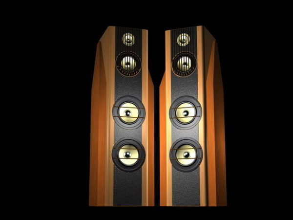 Wooden Stereo Audio Speakers