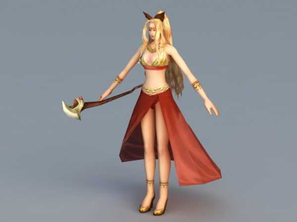 Personaje de juego femenino de anime