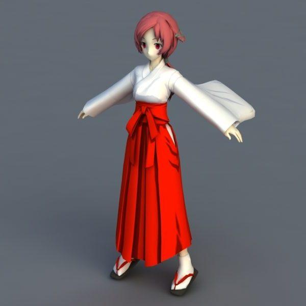 Personaje de chica japonesa de anime