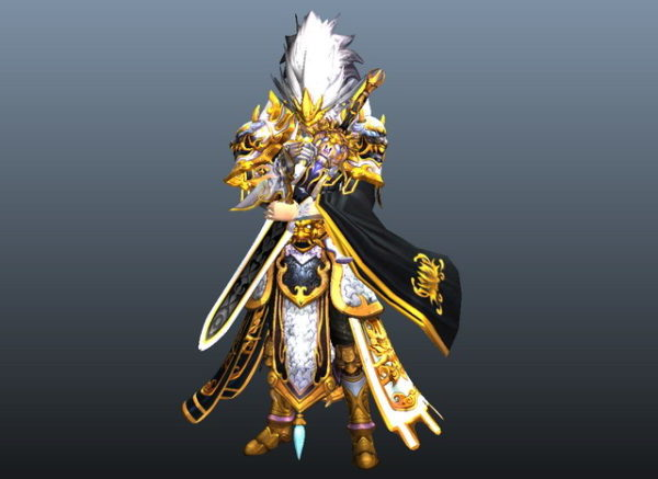 Personaje de espadachín de anime