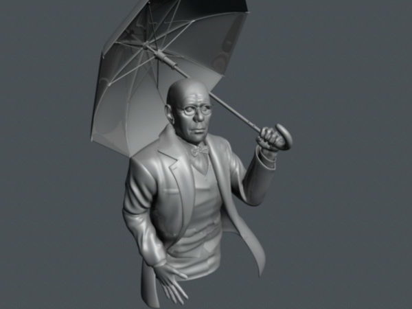 Sateenvarjo vanha mies