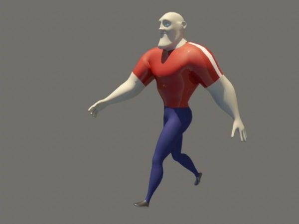 Animoitu sarjakuva mies