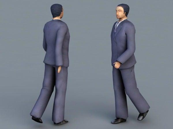 Empresario caminando personaje