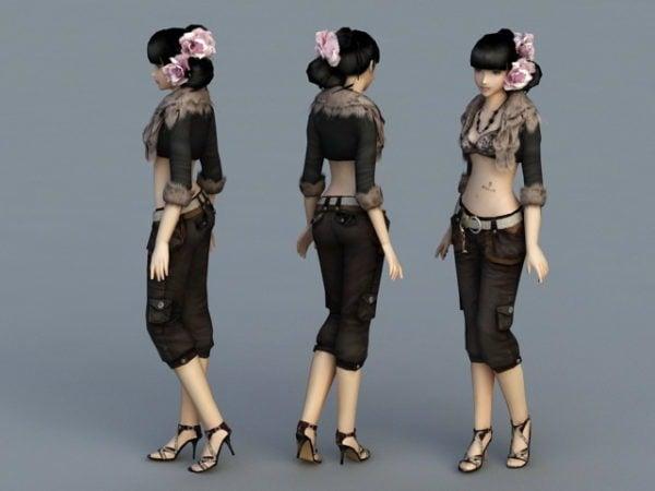 Beautiful Fashion Girl Character