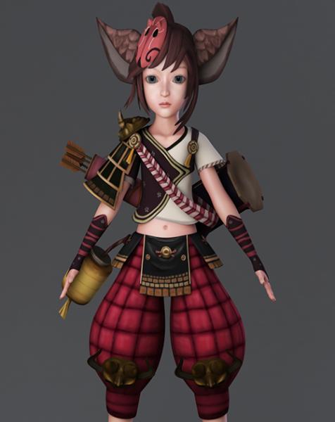 Personaje de Anime Fox Warrior