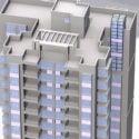 Highrise Building Apartment Blocks