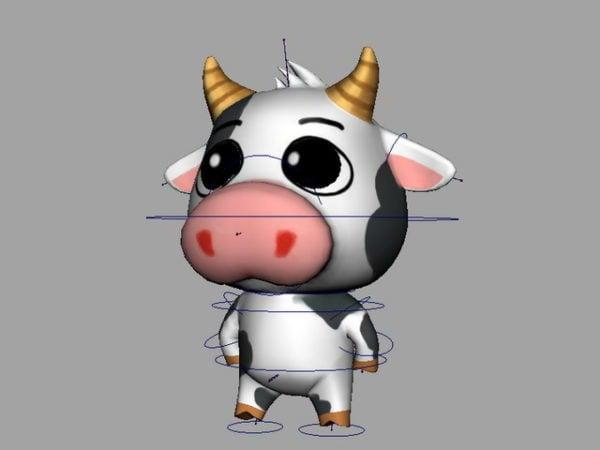 Cartoon Cow Rigged