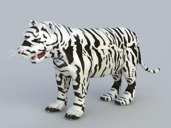 Realistic Kid White Tiger