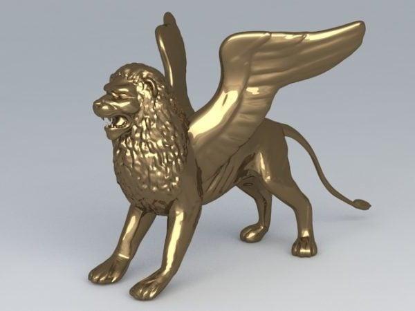 تمثال الأسد الذهبي المجنح