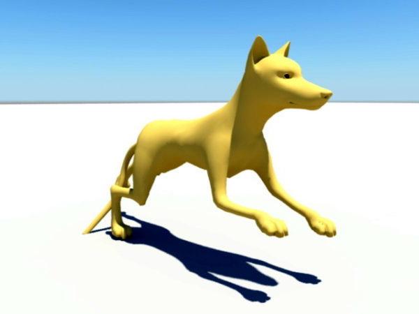 Lowpoly Koiran animoitu takila