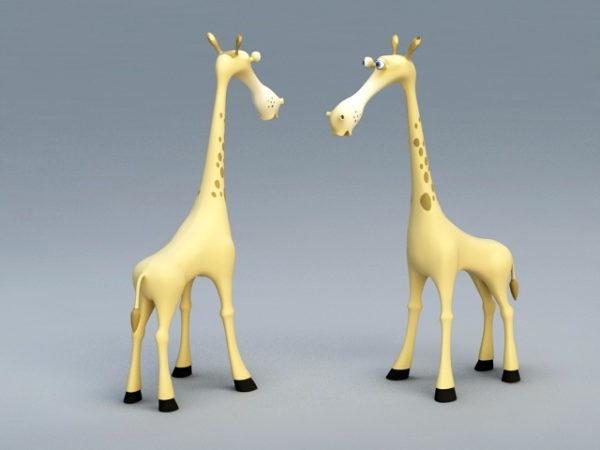 Dibujos animados super lindo jirafa