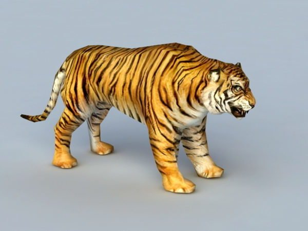 Realistic Tiger Rigged