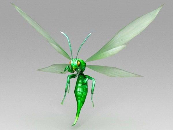 Dibujos animados abeja volando