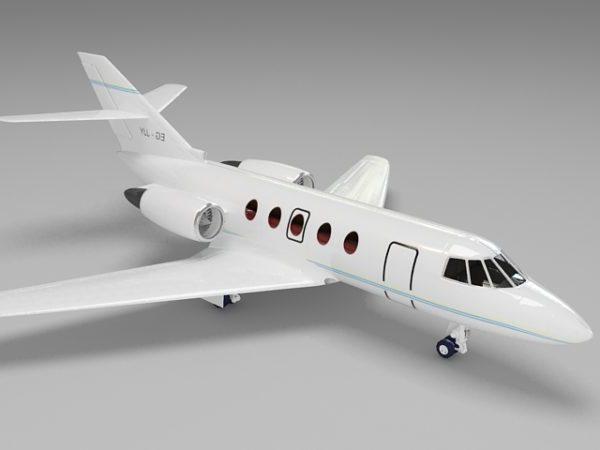 Civil Jet Plane 3ds Max Model Free (Max) - Open3dModel