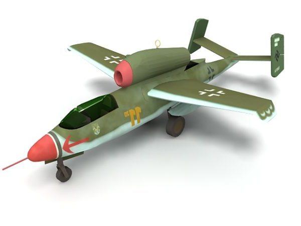 He 162 hävittäjälentokoneet Ww2