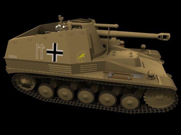 Saksalainen Howitzer Wespe Tank