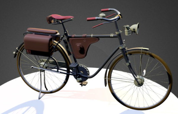 Vintage postimiespyörä