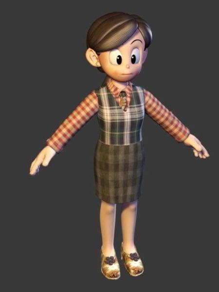 Personaje de dibujos animados mujer