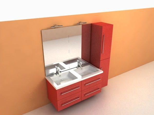 Red Bathroom Vanity Cabinets Free 3d Model Max Open3dmodel 40905