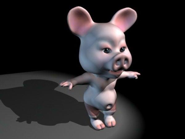 Plataforma de cerdo de dibujos animados