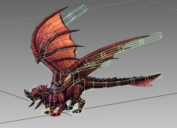 Punainen lohikäärme Mount Animated Rig