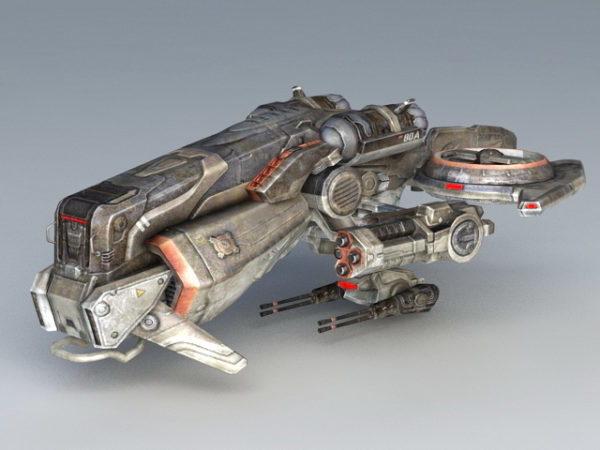 Sci-fi-käsite Space Fighter