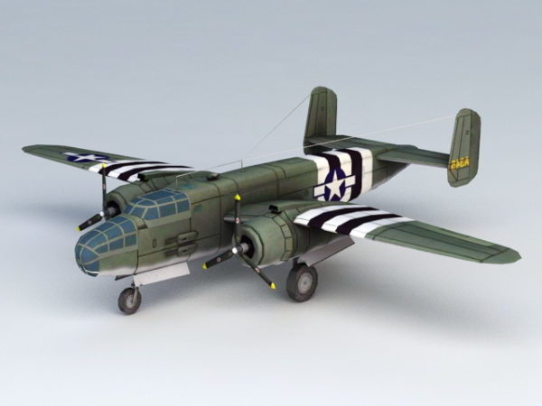 Ww2 American B25 Bomber