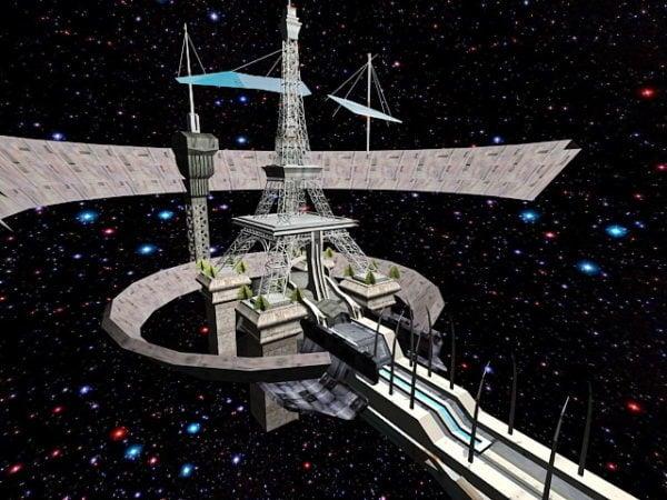 Futuristinen avaruusasemakonsepti