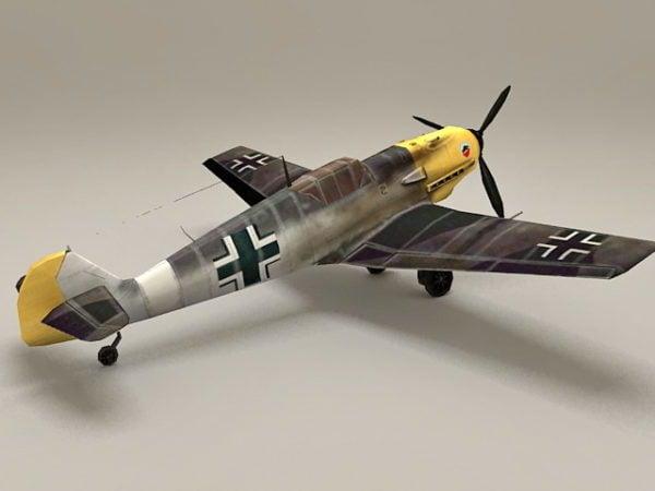 Ww2 alemán Bf 109 avión de combate