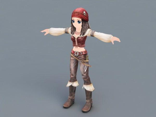 Anime Pirate Girl