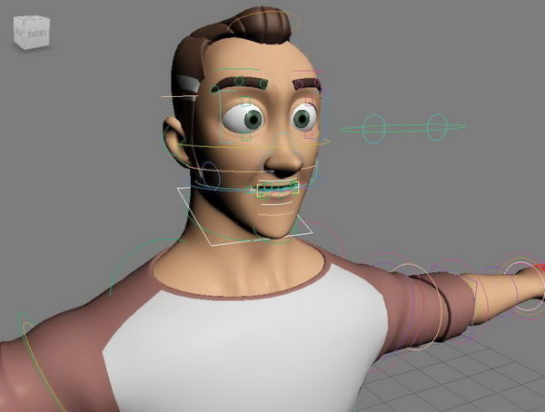 Sarjakuva Man Rig & Animated