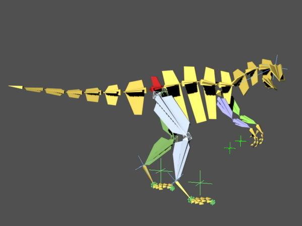Dinosaurus kävely animoitu & takila