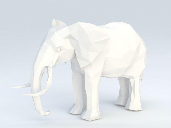 Matala poly-elefantti