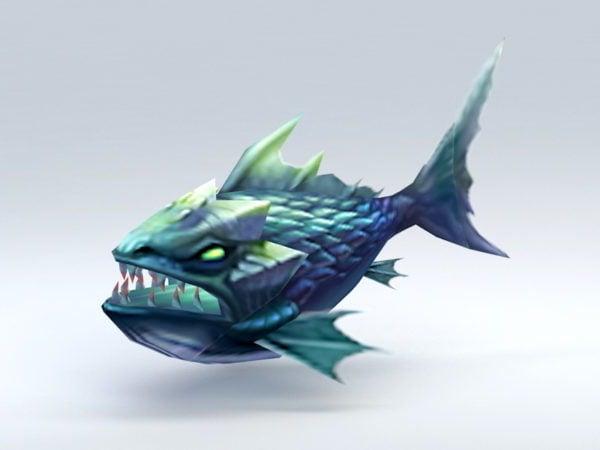 كارتون السمك الوحش