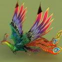 Rainbow Phoenix Animated & Rig